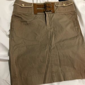 Ralph Lauren Khaki Skirt NWT